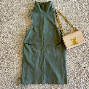 Free People Turtleneck Midi Pocket Dress
